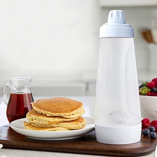 Batter Mixer Bottle, Pancake Batter Mixer Dispenser Bottle, Egg Mixer Bottle with Blender Ball for Waffles Cake Baking Cookie