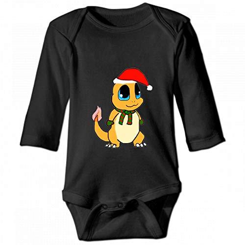 Charmander Christmas Unisex Baby Round Neck Long Sleeve Bodysuit, Fashion Casual Baby Climbing Suit 2T