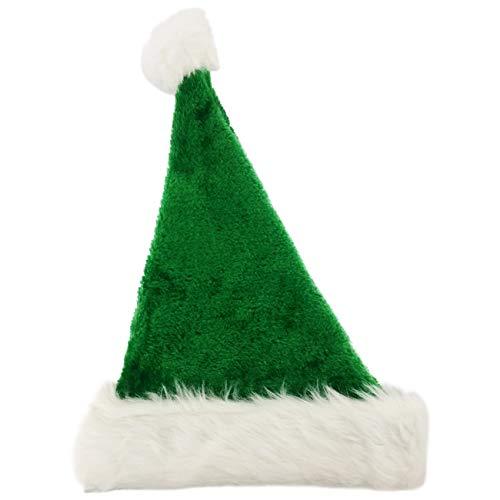 Ciffre Weihnachtsmützen Mütze Nikolausmütze Weihnachtsmütze Santa Plüsch Grün Plüsch