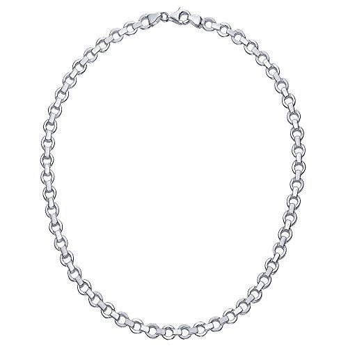 Vinani Kollier Glieder Kette massiv mattiert glänzend 45 cm Sterling Silber 925 Halskette Collier Italien 2KOB