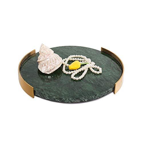 GAGP Bandeja Decorativa Baño de baño de mármol vanidad Bandeja Natural for la joyería, Perfume, Maquillaje, cosmética y depósitos Organización para organizadores de Joyas/Maquillaje