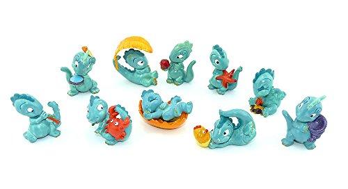 Kinder Überraschung Alle 10 Drolly Dinos Figuren von 1993. Grüne niedliche Dinosaurier Figuren