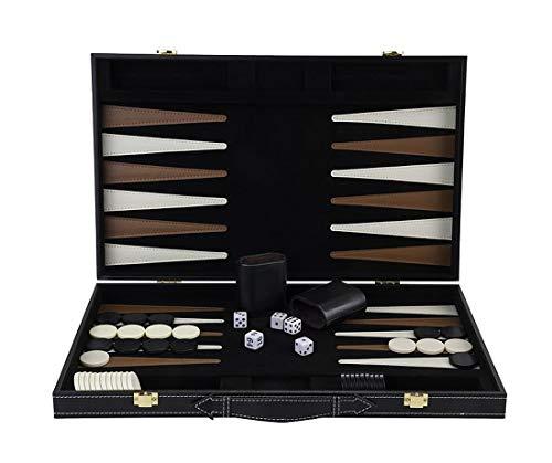 Engelhart - Grand jeu de Backgammon en Bois finitions simili Cuir - 250504