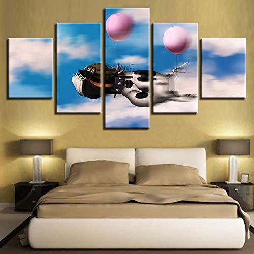 rkmaster-Hd printposter modulaire woonkamer canvas afbeelding 5 stuks cartoon dier hond ballon schilderij huis muurkunst deco lijst 30 cm * 40 cm * 2 30 cm * 60 cm * 2 30 cm * 80 cm * 1 geen lijst