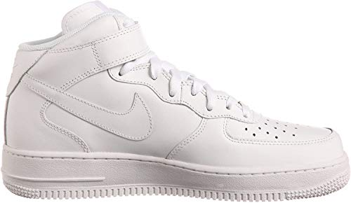 NIKE Herren Air Force 1 Mid '07 High-Top Sneaker, Weiß, 45 EU