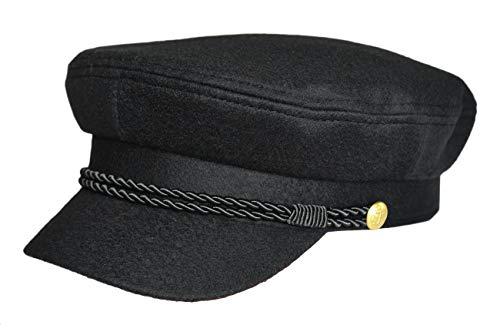 MADSea Elbsegler Gold Edition Tuch Schirmkappe Schirmmütze Hut, Farbe:schwarz, Größe:M
