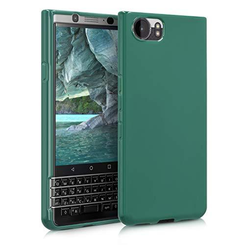 kwmobile Hülle kompatibel mit BlackBerry KEYone (Key1) - Handyhülle - Handy Hülle in Dunkelgrün matt