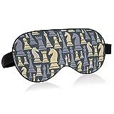 Chess Pieces Bird Eye Fabric Sleep Mask, Blindfold, Super Smooth Eye Mask