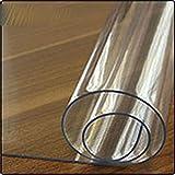 Mantel de PVC Transparente Cubierta Protectora de sobremesa esmerilada a Prueba de Agua patrón de Cocina Mantel de Aceite paño Suave de Vidrio 1.0mm-Clear, 100X200CM, Federación de Rusia
