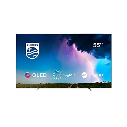 Philips 55OLED754/12 55-Inch 4K UHD OLED Smart TV with Ambilight, P5 Perfect Picture Engine, Dolby Vision, Dolby Atmos, HDR 10+, Alexa built-in - Black (2019/2020 model)