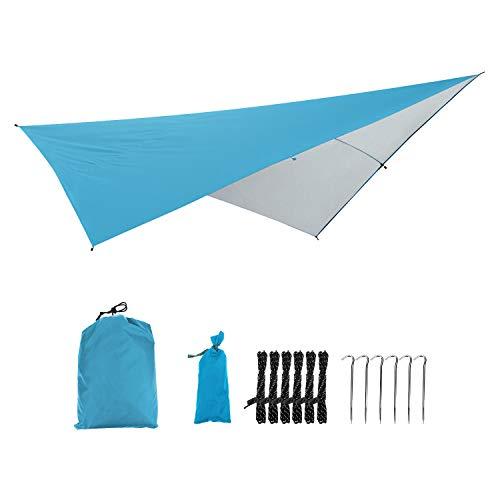 FAVORABLE SCENERY タープ 防水タープ タープテント シェード スクエアタイプ 日よけ雨よけ 5点セット UVカット アウトドア キャンプ 海 登山 ピクニック 公園 BBQ