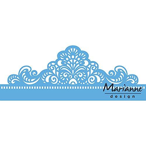 Marianne Design Troqueles con Diseño Frontera Clásica, Metal, Azul, 19.1x7.4x0.2 cm