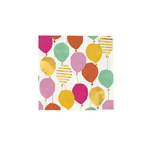 Pratende tafels Kerstversiering Ballon servetten Papier Cocktail Drank 16 Pack, Gouden folie Verjaardagsfeest
