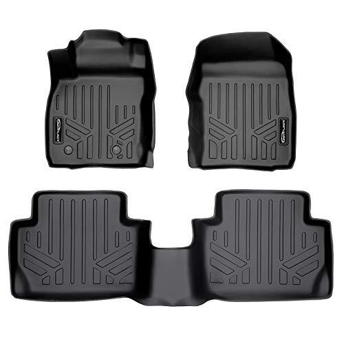 SMARTLINER Custom Fit Floor Mats 2 Row Liner Set Black for 2018-2020 Ford EcoSport (US Model Only)
