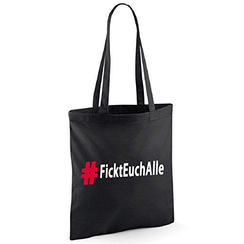 # Fickt euch Alle Tasche Beutel Schwarz (Schwarz)