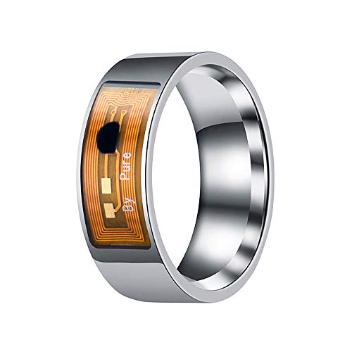 Verpflichtungs-Paar-Ring, NFC Smart-Ring-ID-Karte Multifunktionale wasserdichte Intelligenter Magie Smart-Wear Finger Digital-Ring Für Android Von Windows,Women's Style,14