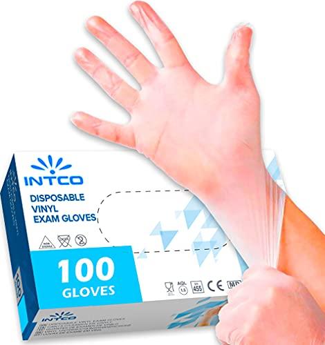 100 guantes de vinilo L sin polvo, sin látex, hipoalergénicos,