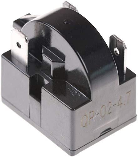 QP-02-4.7 3-polige 4,7 Ohm PTC Starter/Startrelais Ersatz für Mini-Kühlschränke, Kompaktkühlschränke, Getränke- und Wein-/Bierkühler, Tiefkühler, Bier-/Weinkühlschränke