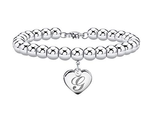 Initial Bracelet for Girl Heart Tag Bead Bracelet Letter G Bracelets Birthday Gifts