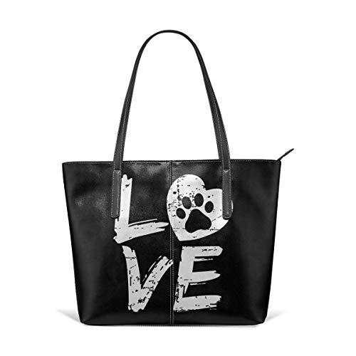 XGBags Custom Borse a spalla da donna Fashion Love Paw Print Leather Handbag Tote Bag For Women