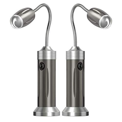 PGFUN 2 Stück Grill Licht Magnetische LED BBQ Licht 360°Verstellbare Flexibel Grill Lampe,Wasserdicht Grillzubehör für Grill,Camping,Outdoor,Party(Nicht Enthalten Batterien)