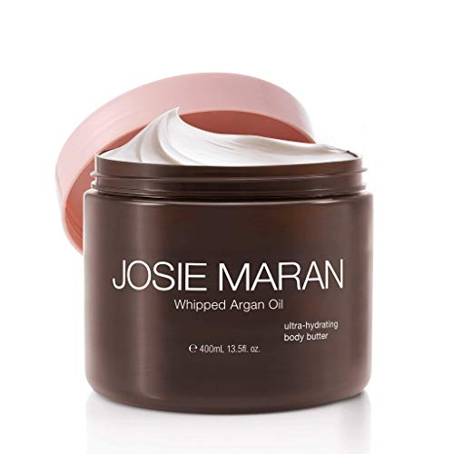 Josie Maran Whipped Argan Oil Body Butter - Immediate, Lightweight, and Long-Lasting Nourishment to Soften and Hydrate Skin (400ml/13.5oz, Unscented)