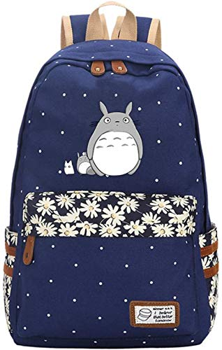 My Neighbor Totoro Anime Cosplay Mochila Bandolera escolar  Azul 3
