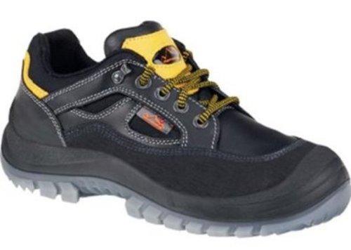 Sicherheitsschuhe m.Überkappe, Vollrindleder, schw, Schuhgröße : 46, Farbe : schwarz