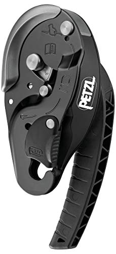 PETZL Unisex-Adult D020BA01 I'd L Descender Black, solid, one Size