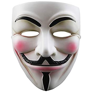 V for Vendetta White Resin Mask Guy Fawkes Anonymous Cosplay Costume Party Masks
