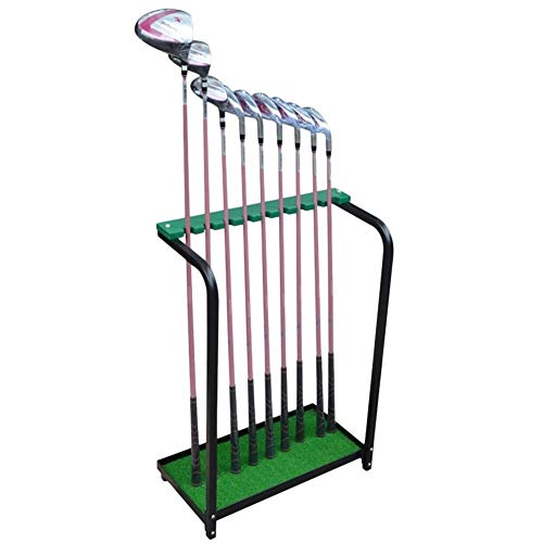 Golf Club Display Rack Golf Club Opslag Rack 9 Clubs Houder - Display Stand voor Binnen & buiten, Duurzame Metalen Plank Organizer Golf Gift Set