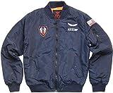 Avirex Bomber Homme aviateur – Gilet rembourré léger. Variantes Bleu et Vert...