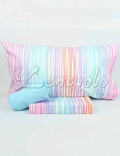 Lenzuola matrimoniali completo Bassetti Dream FLOR in cotone variante Multicolor