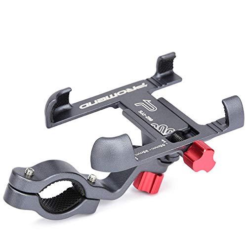 Soporte para teléfono móvil de aleación de aluminio-Bicicleta de rotación de ángulo ajustable, bicicleta de montaña, soporte de navegación de motocicleta Adecuado para cualquier funda de teléfono móvil (color de titanio universal del manillar)