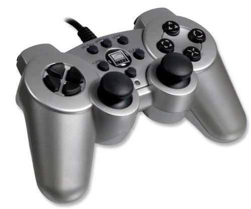 Speedlink Strike² Gamepad für Playstation 2 (Vibration) transparent silber
