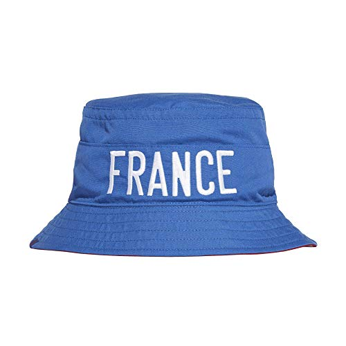 Adidas Reversible France Frankreich Bucket Hat Fischerhut (OSF Men, royal/Blue)