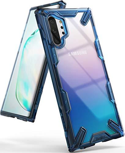 Ringke Fusion-X Designed für Galaxy Note 10 Plus Hülle [Space Blue Blau] Doppelte Hybrid Schutz vor PC + TPU mit Ketten Loch