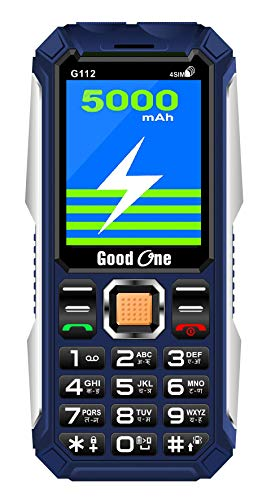 Good ONE G112 Basic Keypad Mobile Phone with Four Sim, 5000 mAh Big Battery, 2.4″ Screen Display