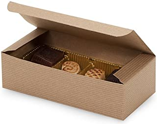 Set of 10 - 1 Pound Kraft Tan Candy Wedding Party Favor Boxes 7 Inch x 3-3/8 Inch x 2 Inch