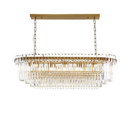 MJK Lámparas de techo Lámparas de techo, posmodernidad Restaurante en casa Lámpara de cristal Diseñador creativo Bar Lámpara de araña L80 * W35 * H30Cm Transmisión de luz