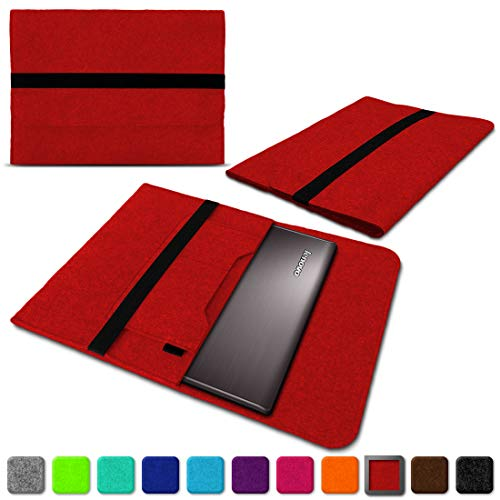 NAUC Lenovo Thinkpad Yoga 370 Tasche Hülle Filz Sleeve Case Schutzhülle Notebook Cover, Farben:Rot
