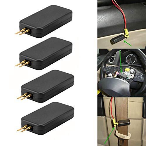 Cutito - Juego de 4 unidades de comprobador de airbag SRS para coche, simulador de airbag
