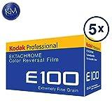 Confezione da 5 pellicole a colori Kodak Professional Ektachrome E100 (35 mm, 36 esposizioni)