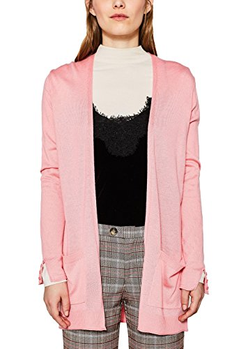 ESPRIT Damen 127EE1I025 Strickjacke, Rosa (Pink 670), Medium