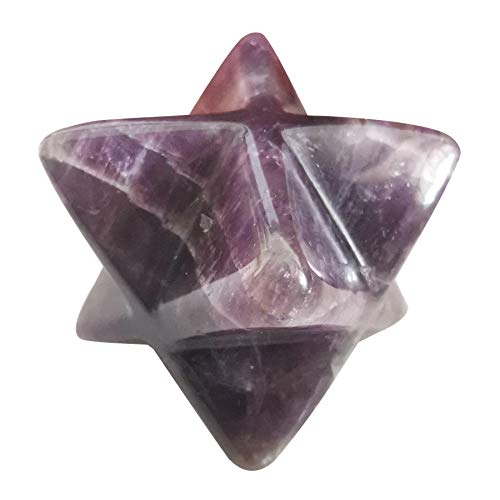 Lovionus89 Natürlich Amethyst Merkaba Kristall Schutz Heilig Meditation Energie Generator Heilung Chakra Sechszackiger Stern 1 Zoll