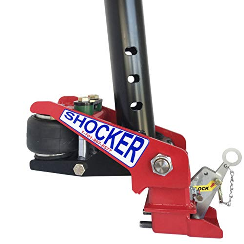 Buy Discount Shocker Gooseneck Surge Air Hitch for Stoll Trailers, Round 4 & Angled Pin Holes 10-20...