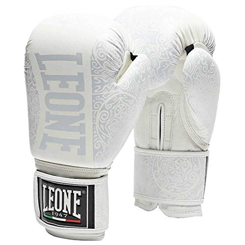 LEORC|#LEONE 1947 Boxhandschuhe Maori Boxhandschuhe Boxhandschuhe Unisex - Erwachsene, Weiß, 10ozM