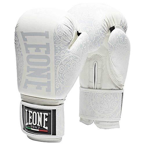 Leone 1963 Boxhandschuhe Maori Boxhandschuhe, Unisex - Erwachsene, Weiß, 14OZ
