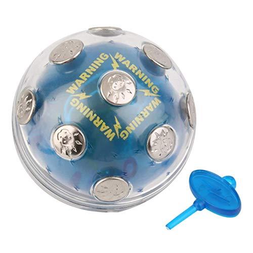 Abs & Metal Shock eléctrico Shocking Glowing Ball Game X'Mas Party Entertainment Toy Gift Blue Auto Off Función por Seguridad Producto satisfactorio