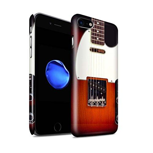 Glanzend telefoonhoesje voor Apple iPhone SE 2020 Gitaar Sunburst Electric Design Glossy Ultra Slim Dunne Hard Snap Cover